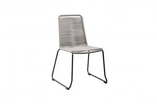 SUNS Elos - Outdoor Dining Chair - SUNS Grey Collection - Matt royal grey - Black/grey