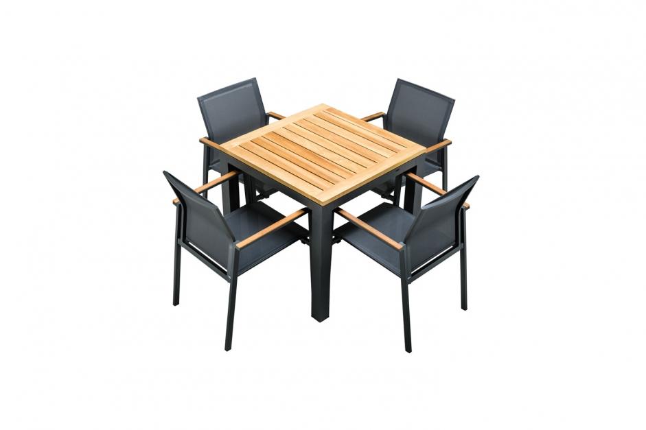 Dining table – Monte Vario 90 – Yellow collection — Teak tafelblad | Tutti tuinstoel